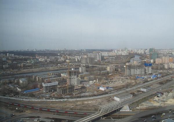 Врайоне Москва-Сити пылает небоскреб